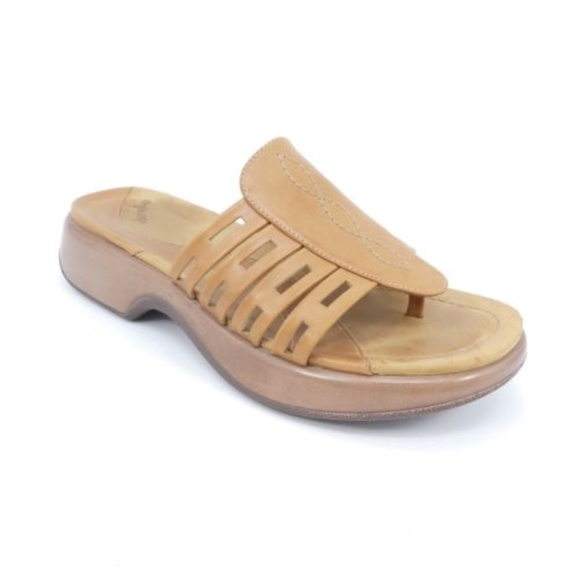 b9c65b5a9f7a Dansko Shoes - Dansko Leather Open Toe Thong Sandals Slides
